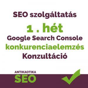 Konkurencia elemzés + Google Search Console