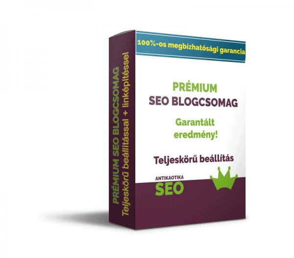 Prémium SEO blogcsomag linképítéssel