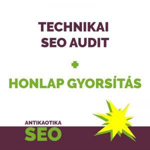 Technikai SEO audit + honlapgyorsítás